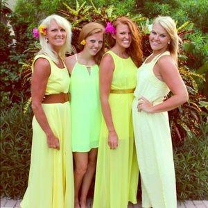 Yellow floral maxi dress. Size L